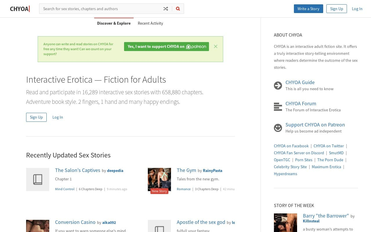 Chyoa - top Sex Stories Sites List