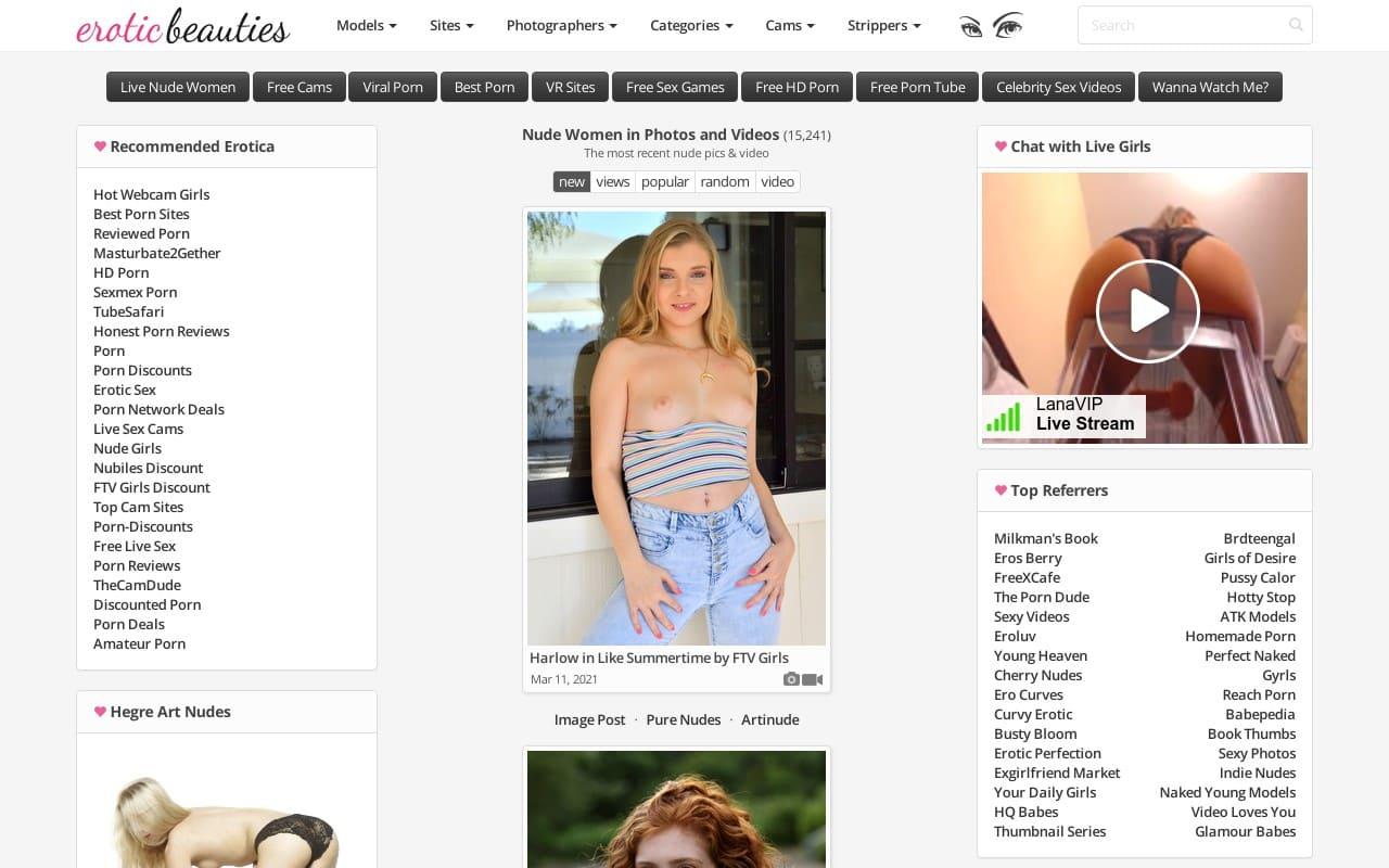 Erotic Beauties - top Naked Girls Galleries List