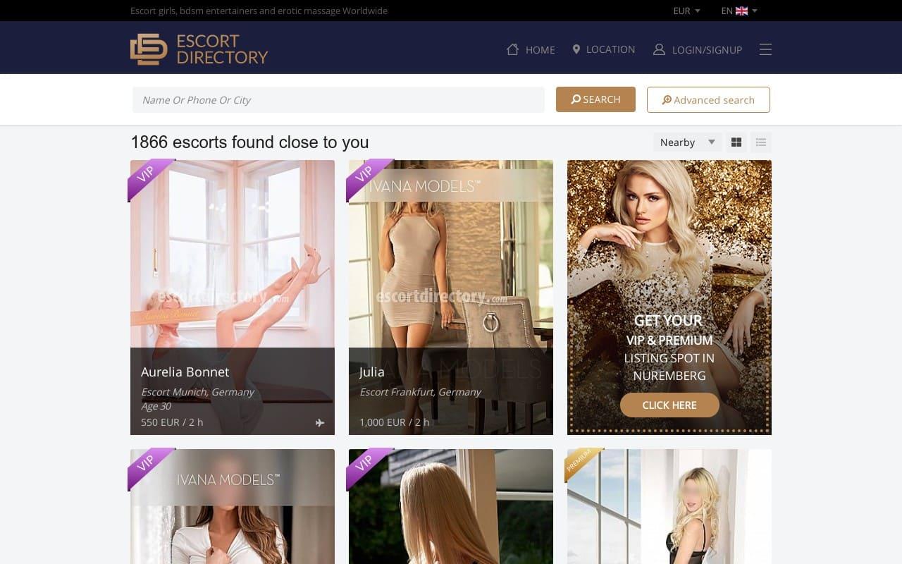 Escort Directory - top Escort Sites List