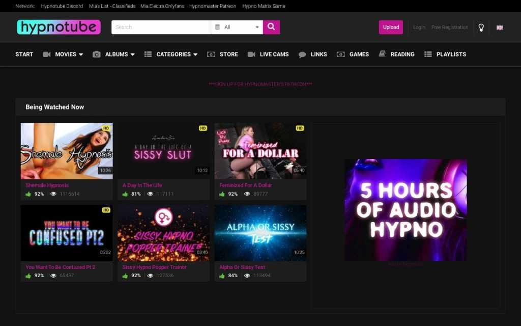 Hypnotube - top Fetish Porn Sites List
