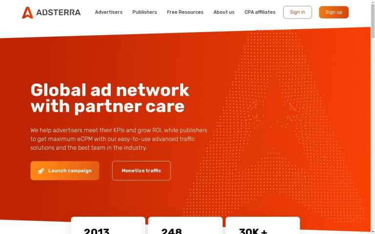 Adsterra - top Adult AD Networks List