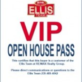 Ellis Team Buyer Advantage Program Open House Pass
