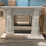 China White Marble Flower Fireplace Mantel Tafm 008 Manufacturer And Supplier Top All Group