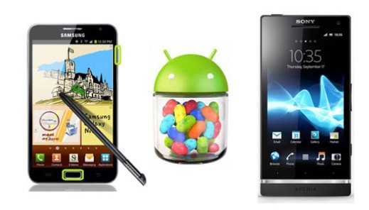 xperia s y galaxy note jelly bean