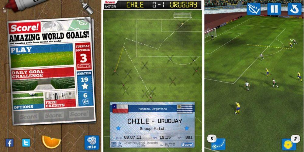 App Android de fútbol Score ! World Goals