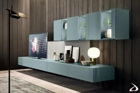 Risparmia con le migliori offerte per vetrine moderne a settembre 2021! Mobile Soggiorno Sospeso Moderno Con Vetrine Melis Toparredi