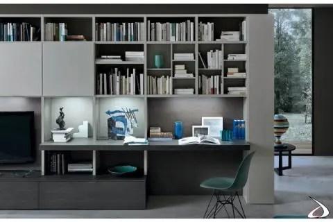 Nella zona living può trovare posto una parete attrezzata ikea: Living Room Wall With Crimi Desk Toparredi