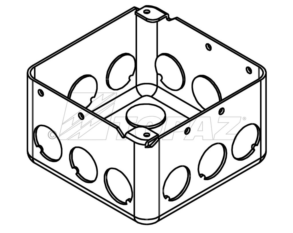 4 Square Drawn Boxes 2 1 8 Deep 1 2 Ko