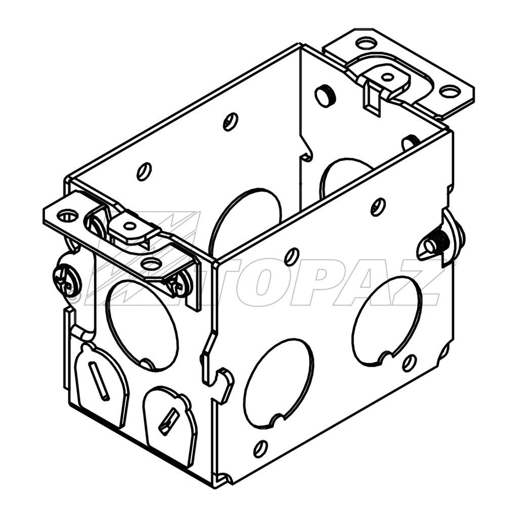 3 X 2 Gangable Switch Boxes 2 3 4 Deep 1 2 Ko With Nm