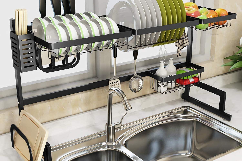 top 10 best over the sink dish racks in