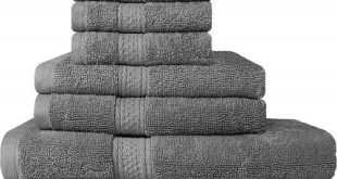 #3. Utopia 8-pieces Bath Towels
