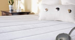 7. Sunbeam Quilted Heated Mattress Pad