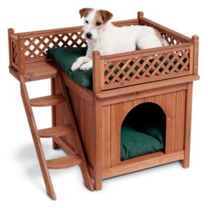 1. Merry Products Wood Indoor Pet House
