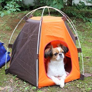 9. Lifeunion Portable Folding Dog House for Indoor and Outdoor