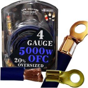 9. OFC 4 Gauge Car Audio Amplifier Installation Kit
