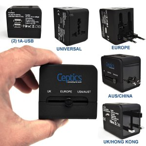 1. Ceptics All-In-One International Travel Plug Adapter