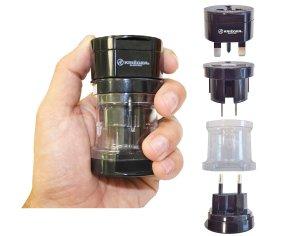 10. KRIGER Small Size Worldwide International Travel Plug Adapter Kit