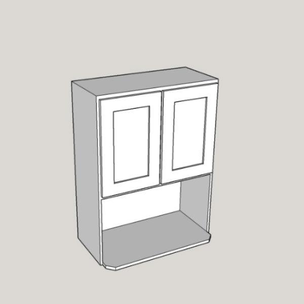 white shaker wall microwave 2 doors 1 shelf