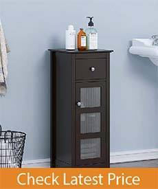 SPIRICH Bathroom Storage Floor Cabinet, Bathroom Cabinet