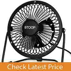 BTOOP 4 Inch Mini USB Best Desk Fan
