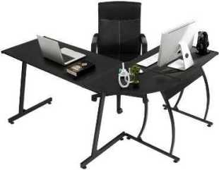 GreenForest Cheap L-Shape Gaming Desk