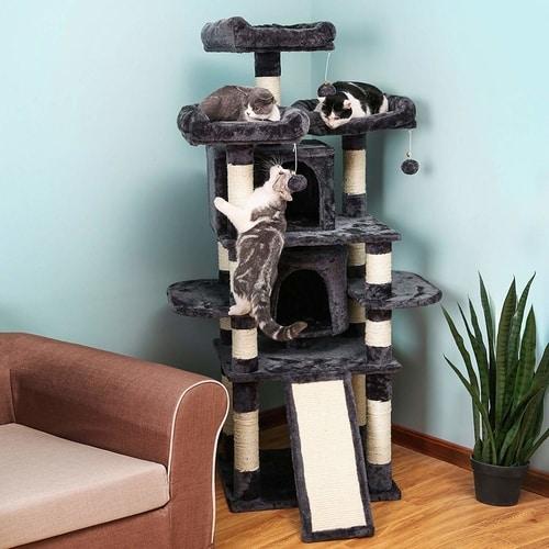 Best Cat Tree $100-$200 - Songmics 67-Inch Multi Level Cat Tree