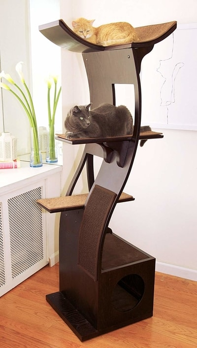 Best Cat Trees Smart Buyers Guide - Refined Feline Lotus Modern Cat Tree