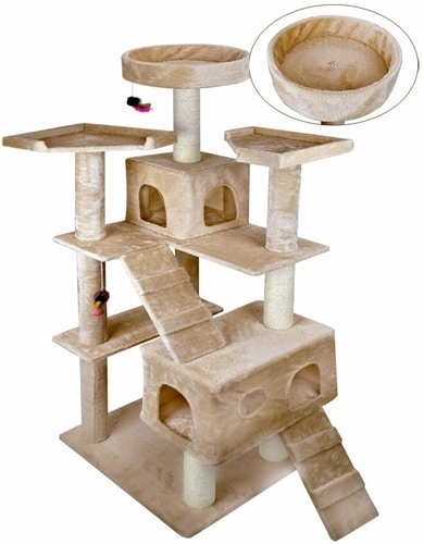 Best Cat Tree For Large Cats - Vidagoods 72 Inch Cat Tree Play House Condo