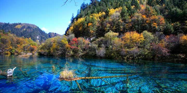Top 10 China Attractions - Jiuzhaigou Valley