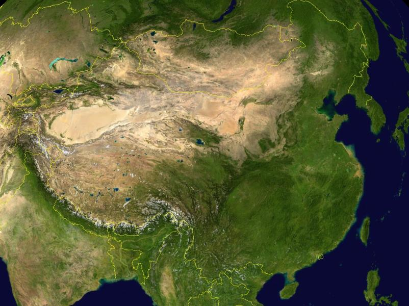 China Satellite Map  Satellite Image of China