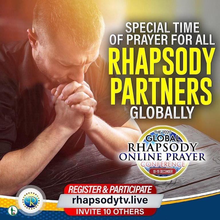 Live Stream:The 2020 Global Raphsody Online Prayer Conference