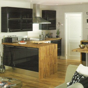 High Gloss Black Kitchen From Howdens Joinery The High