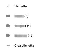 Etichette Contatti Google