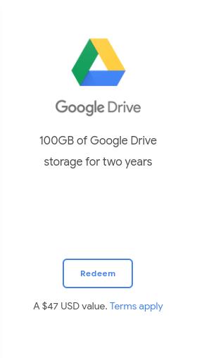 100 GB Google Drive