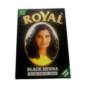 Royal Henne Henna poudre colorante teinture coloration cheveux noir
