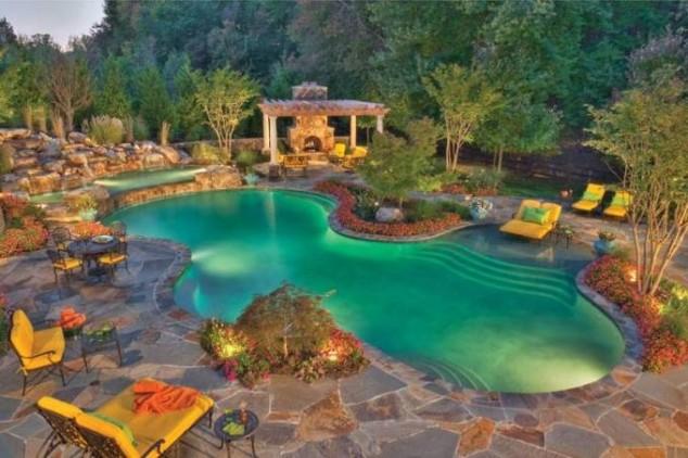 25 Ideas for Decorating Backyard Pools on Backyard Pool Decor Ideas id=17983