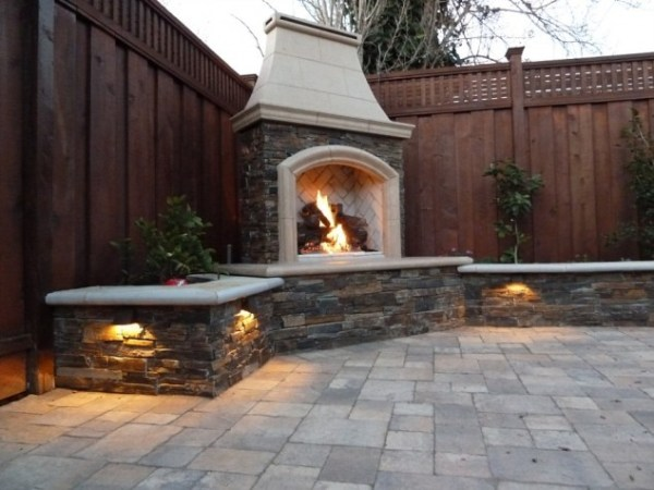 small outdoor patio fireplaces 30 Ideas for Outdoor Fireplace and Grill