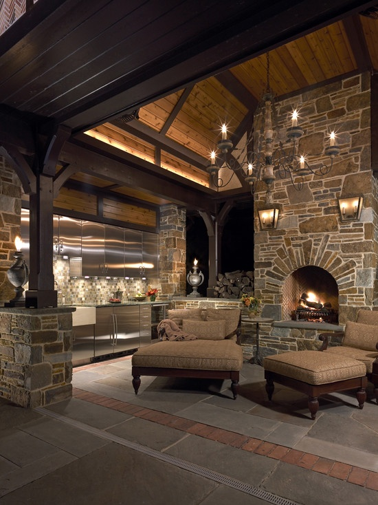 30 Ideas for Outdoor Fireplace and Grill on Remodel:ll6Wzx8Nqba= Small Kitchen Ideas  id=77789