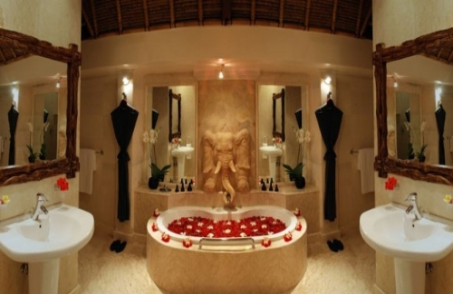 romantic bathroom idea - world market home furnishings
