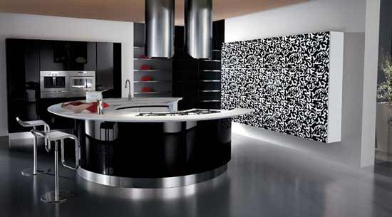 Elegant And Modern Black Kitchen Designs