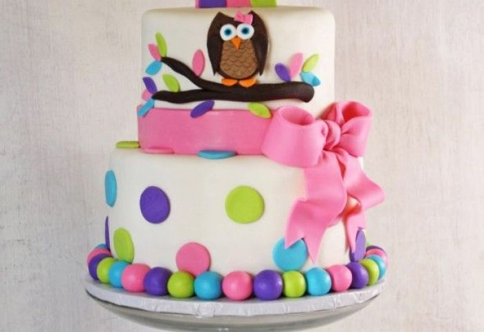 Lovely Baby Girl First Birthday Cake Ideas