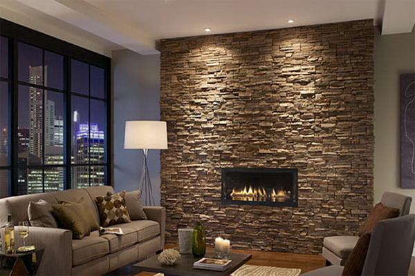 Modern Stone Fireplace Designs