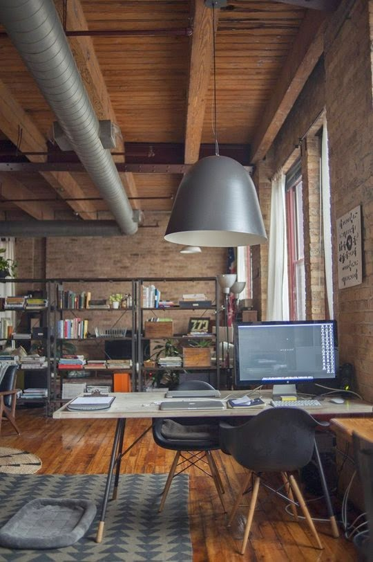16 Industrial Home Office Designs
