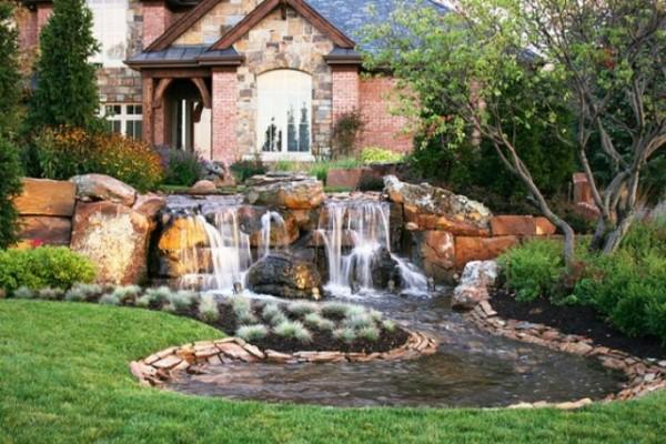 Wonderful Backyard Waterfall Ideas on Front Yard Waterfall Ideas id=55159
