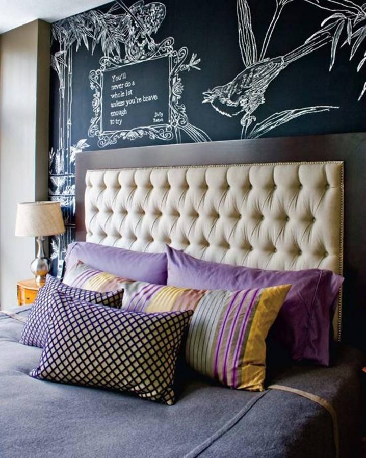 Creative Chalkboard Wall Decor Ideas For Your Bedroom on Creative Wall Ideas  id=94363