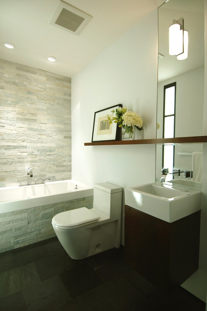 Stunning Bathroom Shelves Designs That You Will Love on Contemporary Small Bathroom Ideas  id=87861