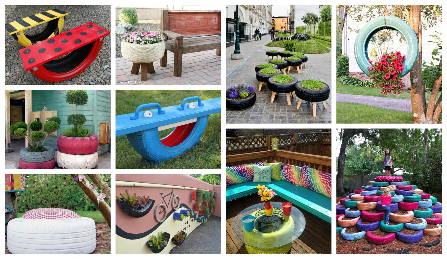 How To Decorate Your Yard With Tires In A Fantastic Way