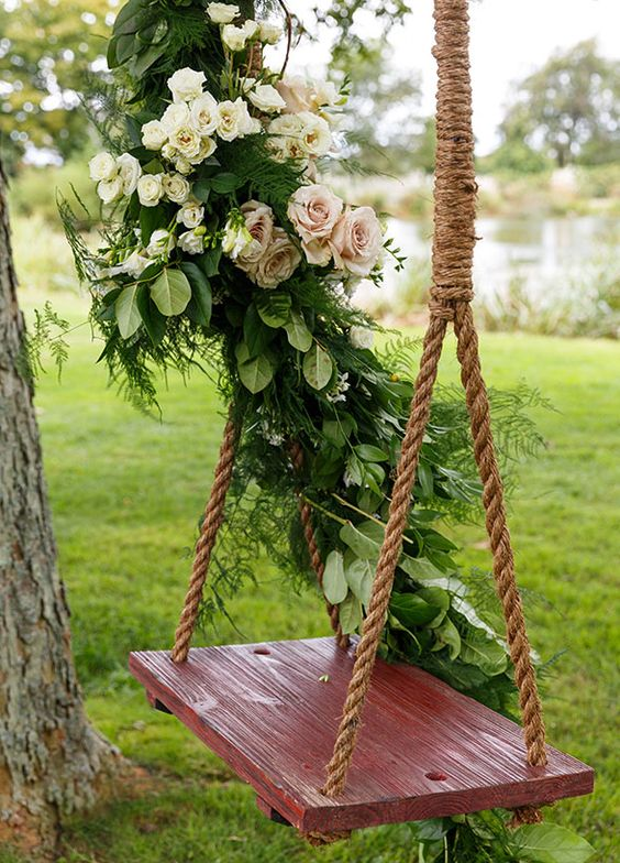Flower Swing Decorations For The Most Romantic Garden Party