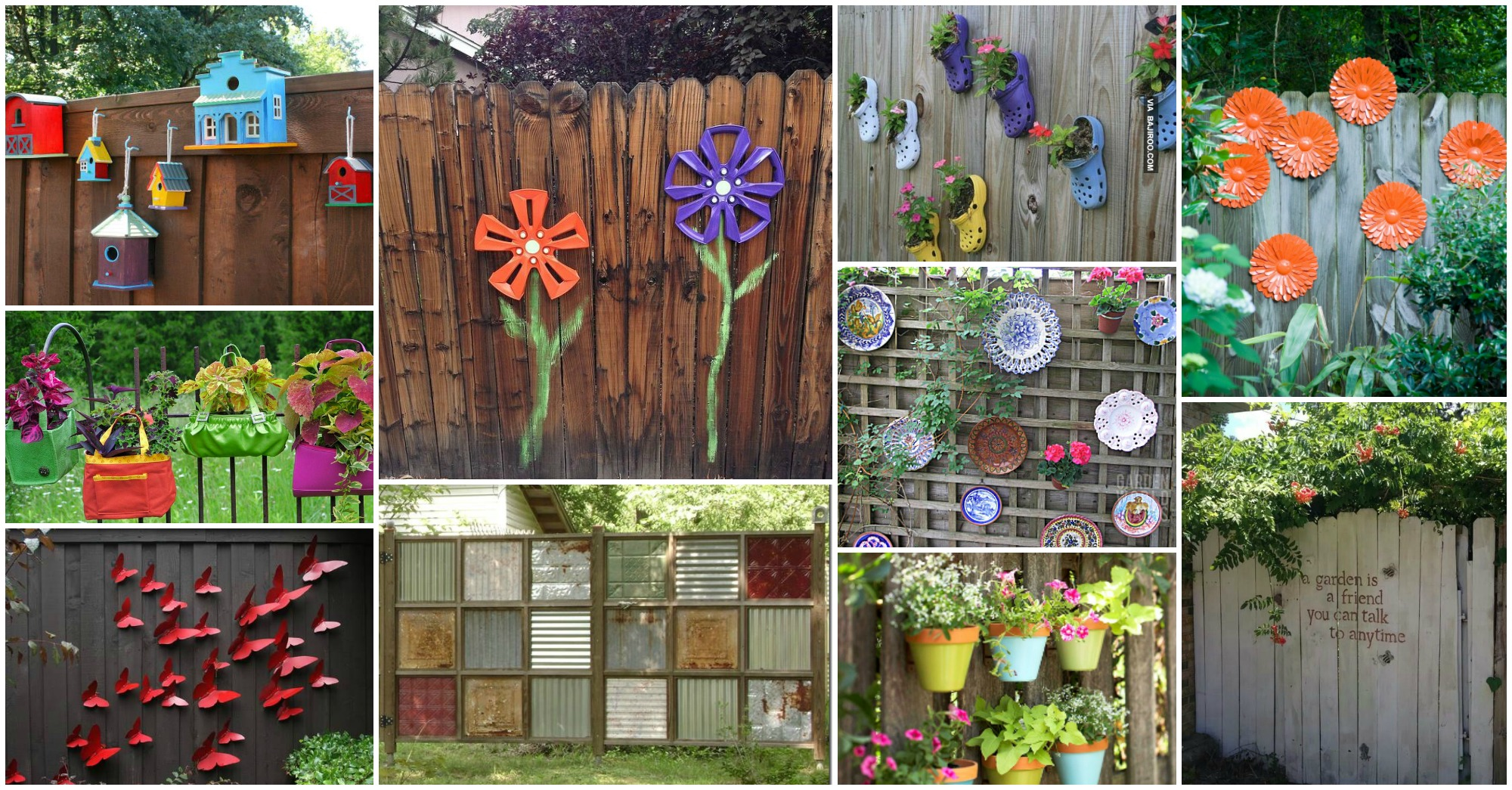 14 DIY IDEAS: Fun Backyard Fence Decorations You Will Love on Backyard Wall Decor Ideas  id=79143