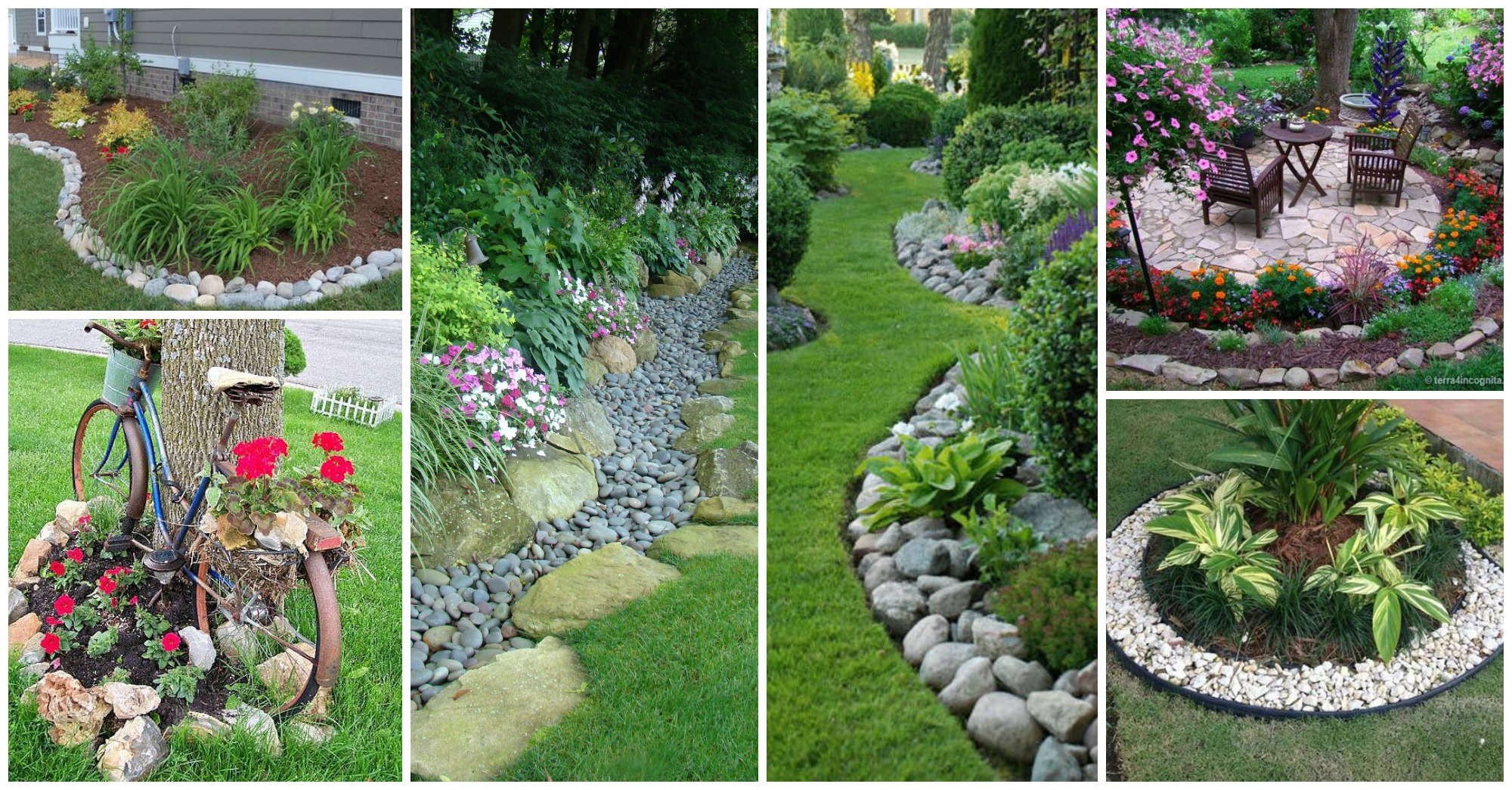 11 Impressive Garden Edging Ideas With Pebbles and Rocks on Backyard Border Ideas  id=66491